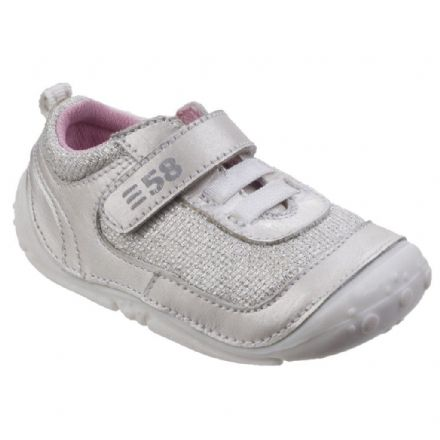 HUSH PUPPIES Livvy Velcro Toddler Trainer (White) 18 only!